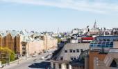Above view of Lubyanskaya Square in Moscow — Stock Photo
