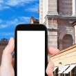 Tourist photographs of Cathedral in Ferrara — Stock Photo #73144869