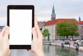 Tourist photographs of Frederiksholms Kanal — Stock Photo