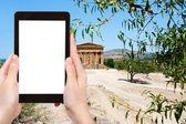 Foto des Tempels auf Concordia Stadt Agrigento — Stockfoto