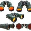 Set from green field binoculars isolated on white — Stock Photo #76500939