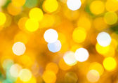 Yellow and green flickering Christmas lights — Stock Photo