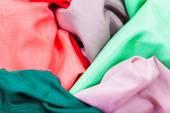 Several pieces of silk batiste fabrics — Stock Photo