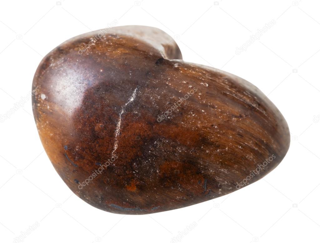 piedra preciosa piedra aislada del ojo del tigre marr n