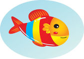 Cute cartoon fish. Vector clipart illustration with gradients. — Stock Vector