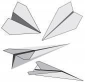 Vector paper plane — Stock Vector