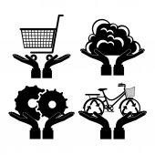 Ikona designu — Wektor stockowy