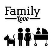 Family design — Vector de stock