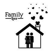 Family design — Stok Vektör