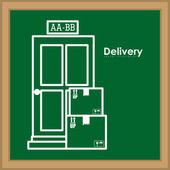 Delivery design — Stok Vektör