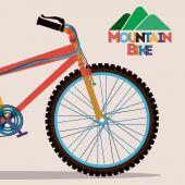Ciclismo diseño — Vector de stock