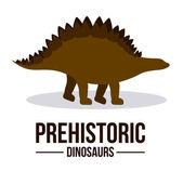 Desenho de dinossauro — Vetor de Stock