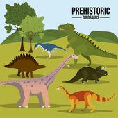 Dinosaur design — Stok Vektör