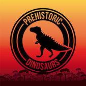 Projekt dinozaur — Wektor stockowy
