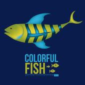 Balık tasarım — Stok Vektör