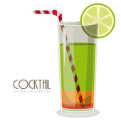 Cocktail design — Stock Vector