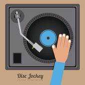 DJ design — Stock Vector