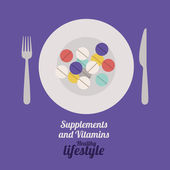 Vitamins design — Stock Vector
