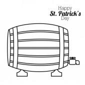 St. patricks day design — Stock Vector