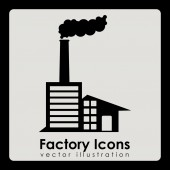 Factory design  — Stock Vector