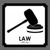 Law design — Stock Vector