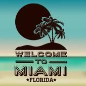 Miami design — Stock Vector