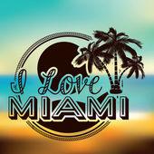 Miami design  — Stock vektor
