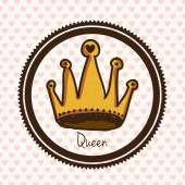 Queen design  — Stock Vector