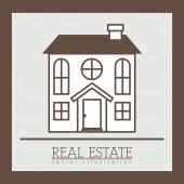 Diseño inmobiliario — Vector de stock