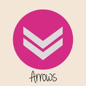 Arrow design — Stock Vector