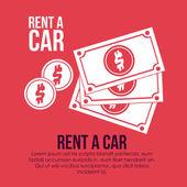 Rent a car — Stock Vector