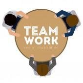 Teamwork design,vector illustration. — Stock Vector