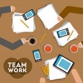 Teamwork design,vector illustration. — ストックベクタ