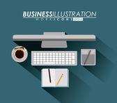 Business design,vector illustration. — ストックベクタ
