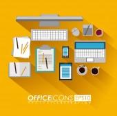 オフィス デザイン、ベクトル イラスト. — ストックベクタ