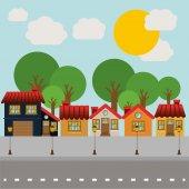Landscape design, vector illustration. — Stock Vector