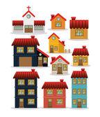 House design, vector illustration. — Stock Vector