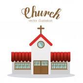 Church design, vector illustration. — Stock Vector