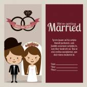 Wedding design, vector illustration. — Stock Vector