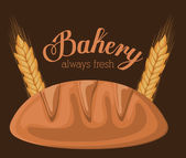 Diseño de panadería sobre ilustración vectorial fondo marrón — Vector de stock
