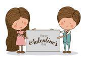 Romantic day design, vector illustration — Stockvektor