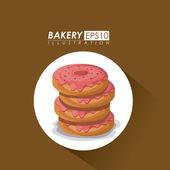 Bakery design, vector illustration. — Stockvektor