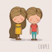 Couple design,vector illustration. — Stock Vector