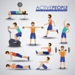 Fitness design, vector illustration. — Stock Vector #62644849
