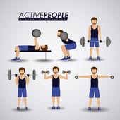 Fitness design, vector illustration. — Stock Vector