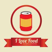 Food design, vector illustration. — 图库矢量图片