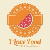 Design de alimento, ilustração vetorial. — Vetor de Stock