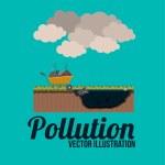 Pollution design, vector illustration. — Stock Vector #63532915