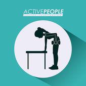 Fitness design, vector illustration. — Stockvektor