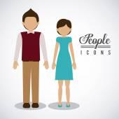 People design, vector illustration. — Stock Vector